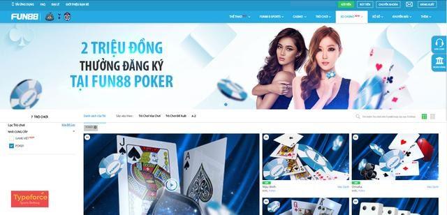 Hướng dẫn các bước đặt cược Fun88 poker cực đơn giản và dễ dàng